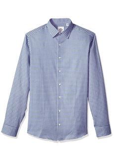 Ben Sherman Grey & Blue Oxford Check Mens Slim Fit Dress Shirt