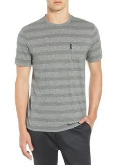 Ben Sherman Heathered Stripe Cotton Pocket T-Shirt