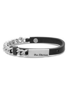 Ben Sherman Leather & Chain Bracelet