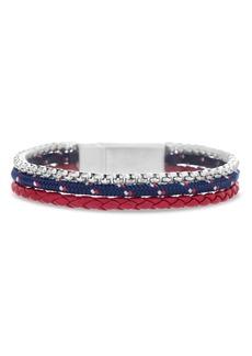Ben Sherman Leather & Cord Bracelet
