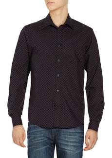 Ben Sherman Mod Checked Print Cotton Shirt