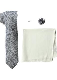 Ben Sherman Men's 100% Silk Tie With Pocket Square & Lapel Pin Box Set navy one size