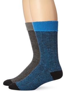 Ben Sherman Men's 2 Pack John Ribbed Boot Socks