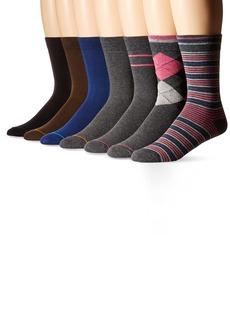 Ben Sherman Men's 7 Pack Brian Crew Socks