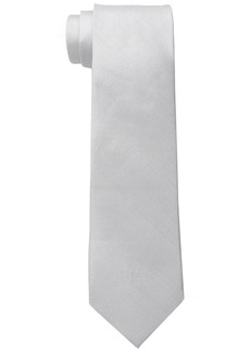 Ben Sherman Men's Belem Solid 100% Silk Skinny Tie Grey
