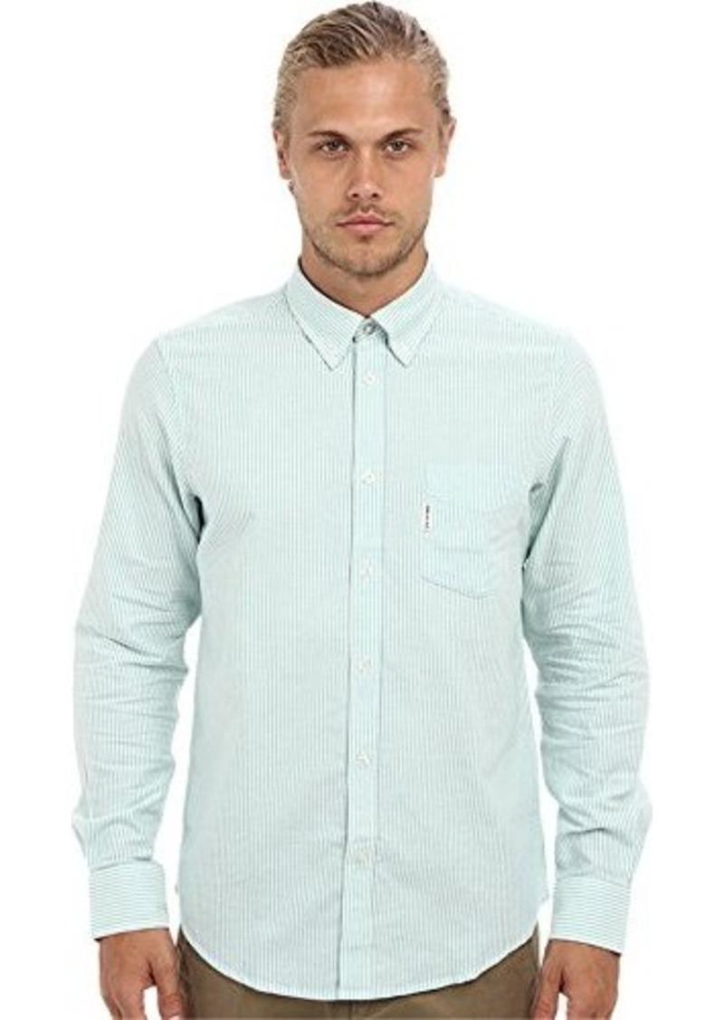 ben sherman ben sherman men 39 s bengal stripe mod l s green tea button up shirt 2xl casual. Black Bedroom Furniture Sets. Home Design Ideas