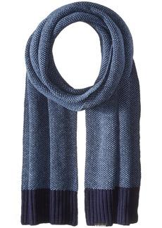 Ben Sherman Men's Birdseye Scarf W Rib Knit  One Size