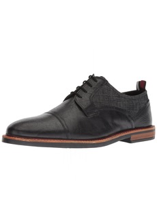 Ben Sherman Men's Birk Cap Toe Oxford Black