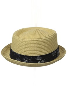 Ben Sherman Men's Braided Straw Pork Pie Hat  S-M