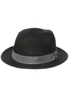 Ben Sherman Men's Braided Straw Trilby Hat  S-M