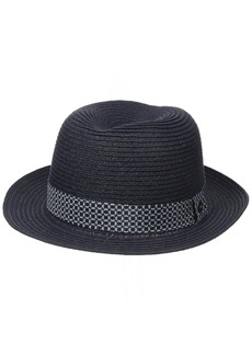 Ben Sherman Men's Braided Straw Trilby Hat  S-M