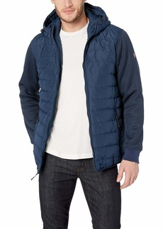 Ben Sherman Men's Bubble Jacket Simple Sleeves Navy M