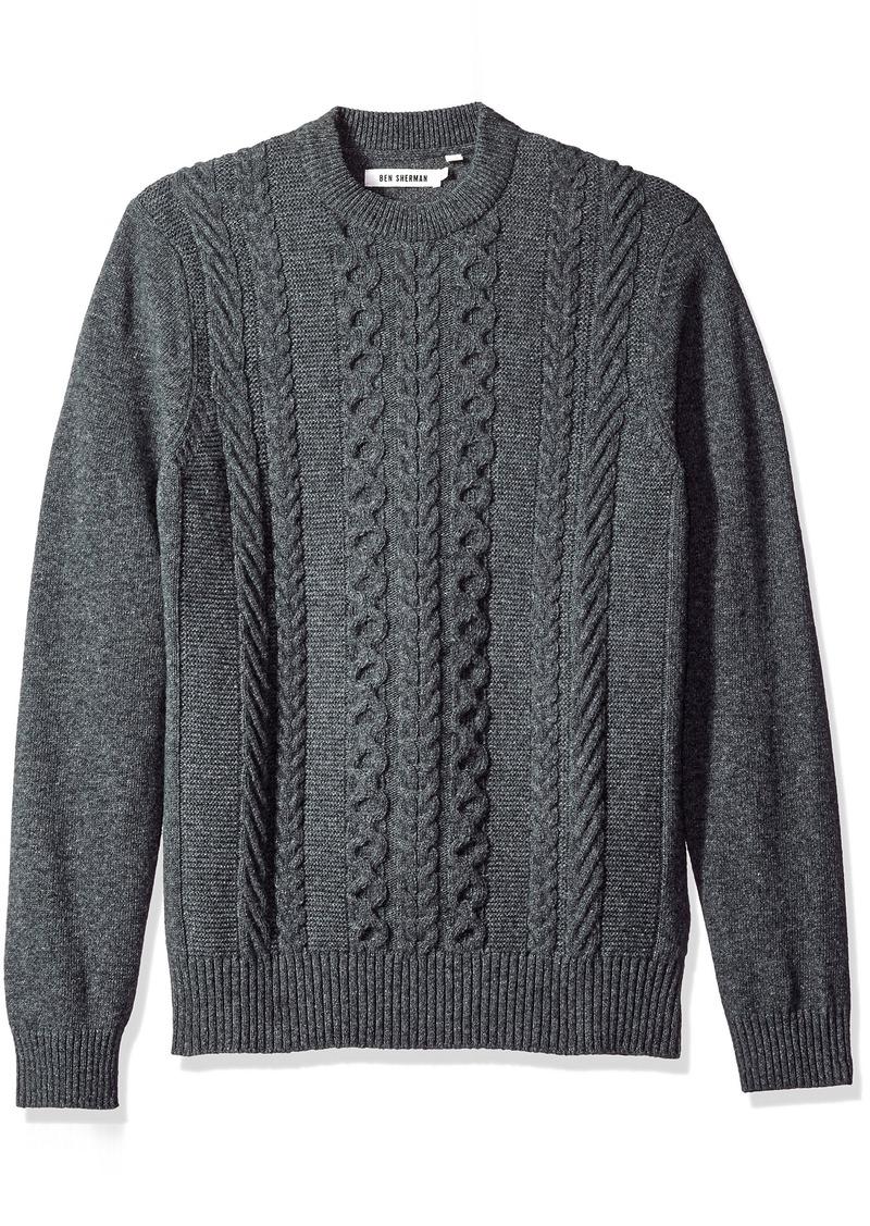 Ben Sherman Ben Sherman Mens Cable Knit Sweater Sweaters