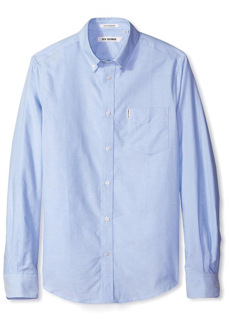 Ben Sherman Men's Classic Oxford Mod Long Sleeve Shirt  M