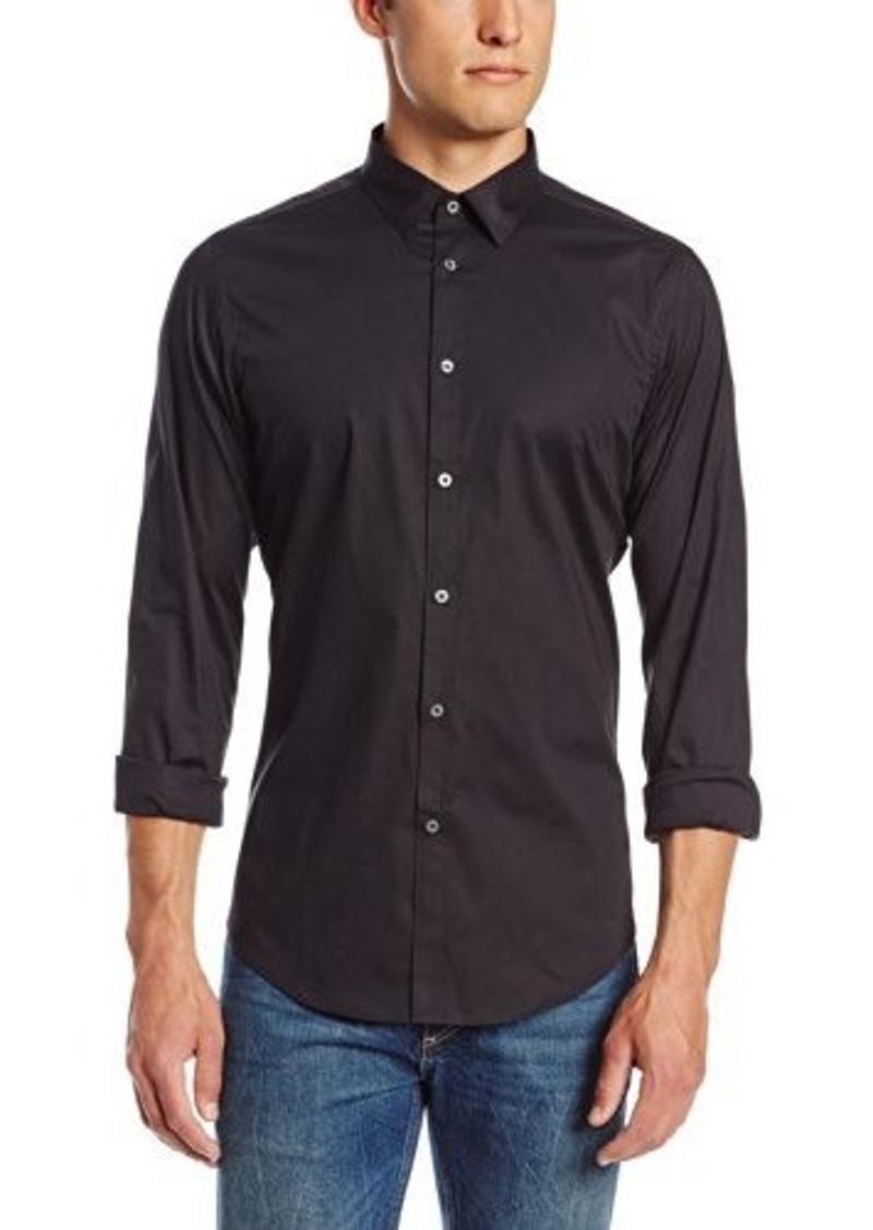 ben sherman ben sherman men 39 s classic stretch poplin woven shirt casual shirts shop it to me. Black Bedroom Furniture Sets. Home Design Ideas