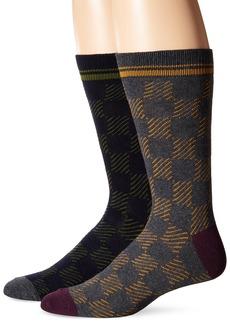 Ben Sherman Men's Colin Gradient Square Thick Crew Socks   (Pack of 2)