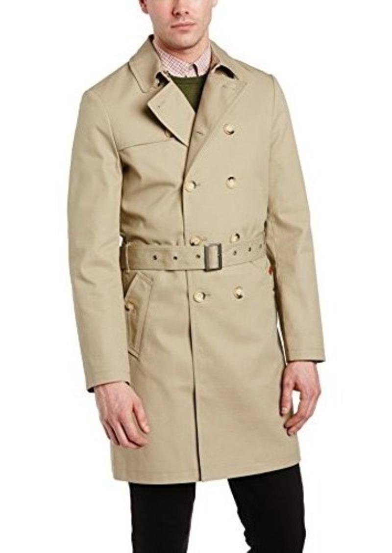 ben sherman ben sherman men 39 s twill trench coat moon large outerwear shop it to me. Black Bedroom Furniture Sets. Home Design Ideas