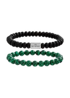 Ben Sherman Men's Duo Bit-Stretch Beaded Bracelet