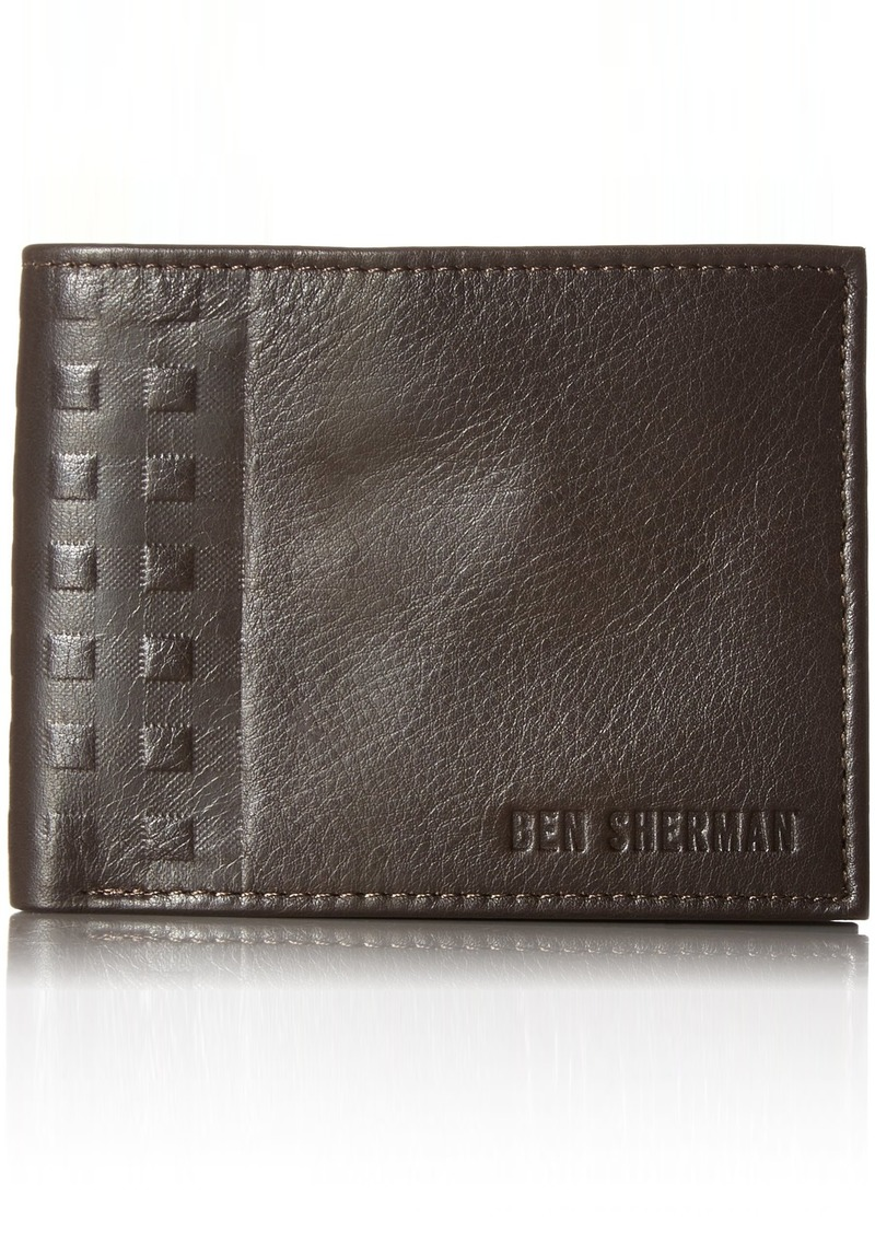 Ben Sherman Men's Holland Park Full Grain Cowhide Leather Passcase Wallet with RFID Blocking  One Size