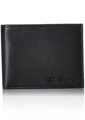 Ben Sherman Kensington Sheepskin Leather Passcase Wallet With Flip Up ID Window (RFID)