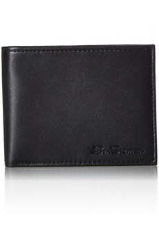 Ben Sherman Kensington Sheepskin Leather Passcase Wallet With Flip Up ID Window With RFID