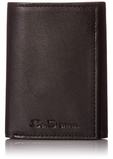 Ben Sherman Kensington Sheepskin Leather Trifold Wallet With ID Window (RFID)