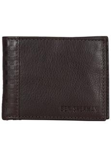 Ben Sherman Men's Leather Bi-fold Five Pocket Wallet with Id Window (RFID)