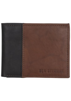 Ben Sherman Men's 5-Pocket Bi-Fold Wallet