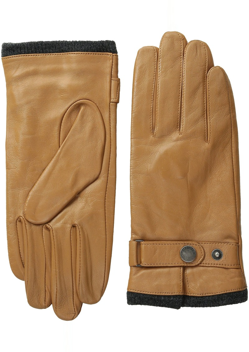 Ben Sherman Men's Leather Glove with Heathered Lining
