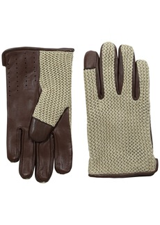 Ben Sherman Men's Leather Knit Driving Glove