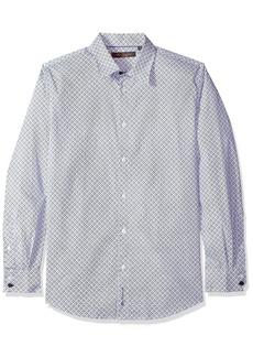 Ben Sherman Men's Long Sleeve BIAS Check Print Shirt