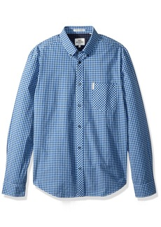Ben Sherman Men's Long Sleeve Core Gingham  Extra Large