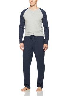 Ben Sherman Men's Long Sleeve Henley and Lounge Pant Set  L
