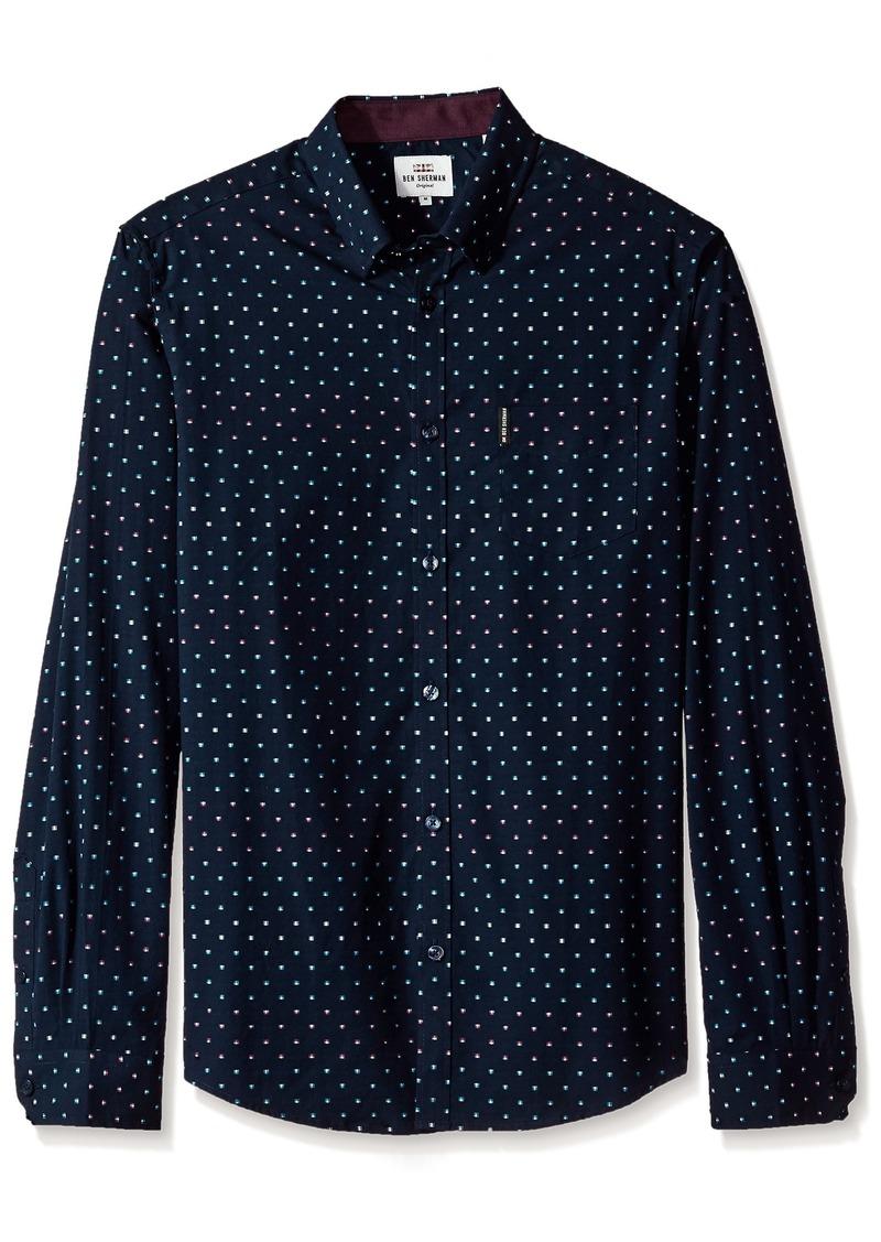 Ben Sherman Men's Long Sleeve Modern Print Shirt
