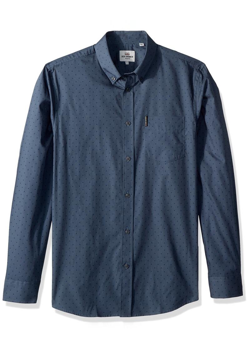 Ben Sherman Men's Long Sleeve Polka DOT Print Shirt  XLarge