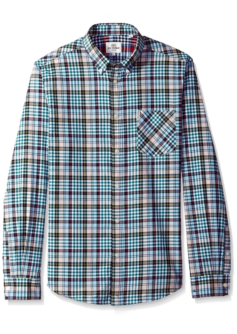 Ben Sherman Men's Longsleeve Tartan Gingham Shirt  XL