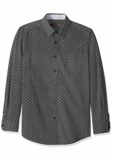 Ben Sherman Men's LS CHECKERBRD PRNT Shirt  L