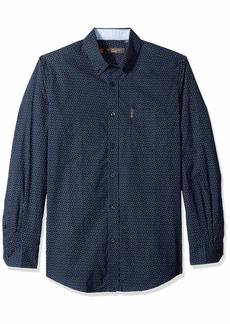 Ben Sherman Men's LS CHECKR DOTS PRNT Shirt  M