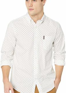 Ben Sherman Men's LS Diamond GEO PRNT Shirt  XL
