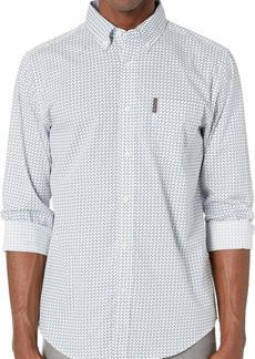 Ben Sherman Men's LS Multi GEO Print Shirt  L