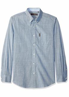 Ben Sherman Men's LS SLUB Chambray Shirt  M