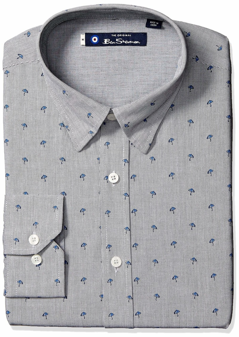 Ben Sherman Men's LS Umbrella Stripe Shirt  M