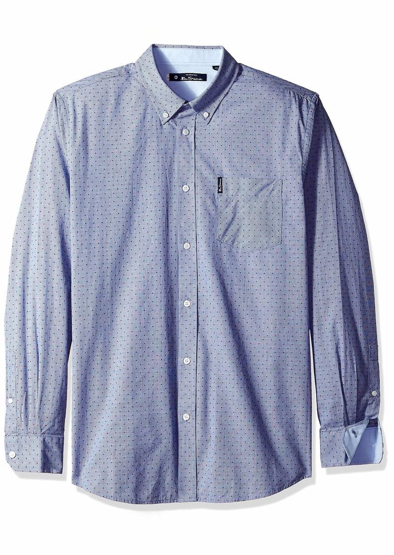 Ben Sherman Men's Mini Dot End Shirt