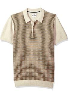 Ben Sherman Men's Mixed Stripe Panel Knit Polo  XXLarge