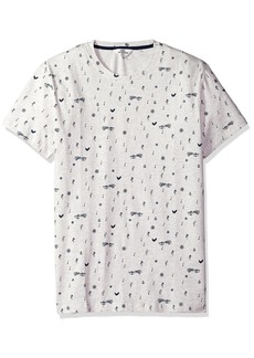 Ben Sherman Men's Music Note Print Fashion Crew  XLarge