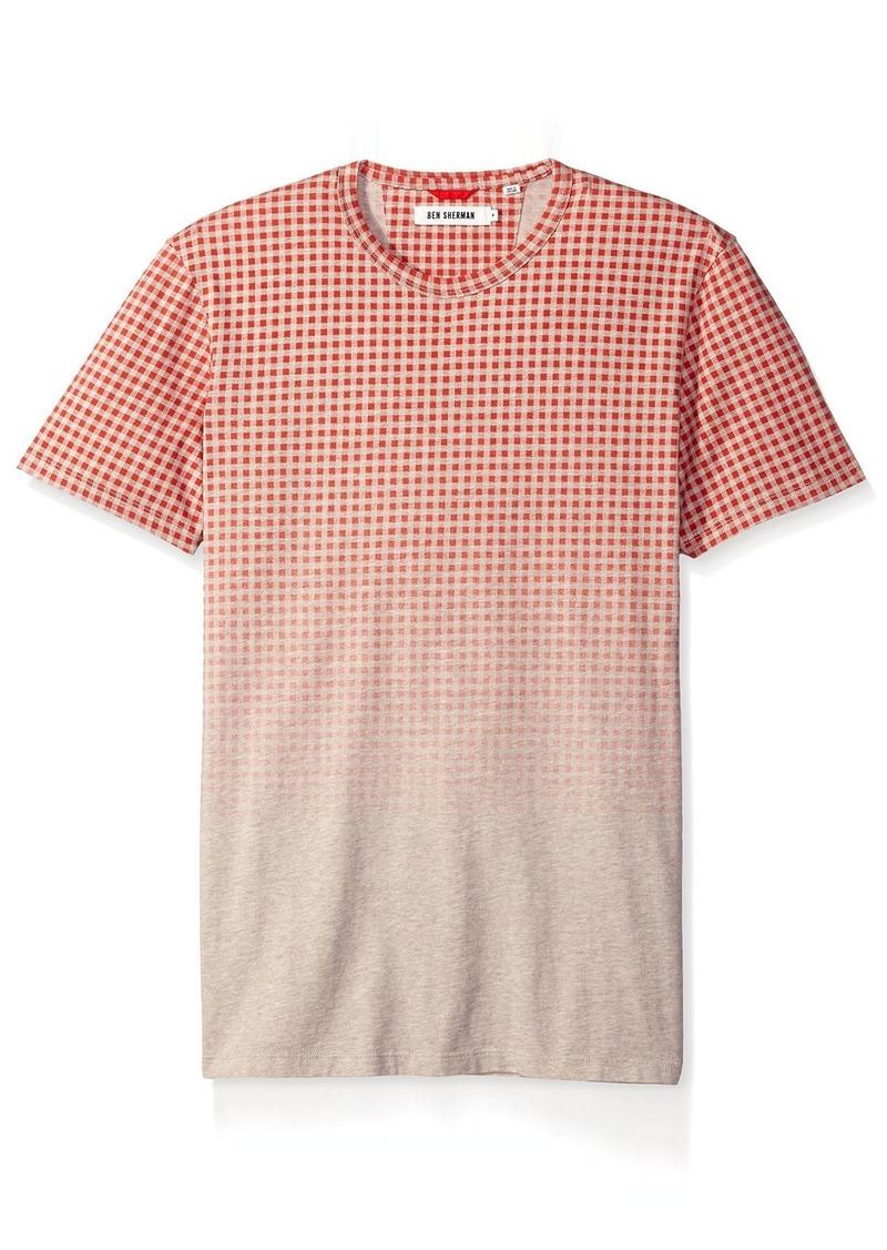 Ben Sherman Men's Ombre Gingham T-Shirt  M