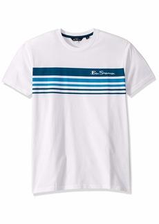 Ben Sherman Men's Ombre Stripe Style TEE  L