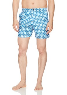 Ben Sherman Men's Opticle Modern Stripe Print Swim Shorts