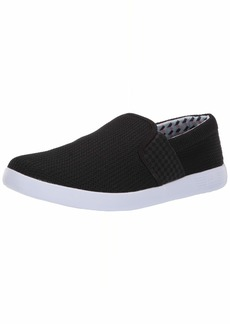 Ben Sherman Men's Parnell Gingham Slip On Sneaker Black mesh  M US
