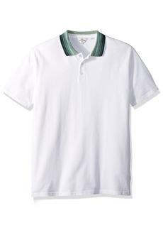 Ben Sherman Men's Short Sleeve Birdseye Jaquard Collar Polo  XLarge